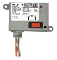RIB2401SB ENCLOSED RELAY 20 AMP SPST-N/O + OVERRIDE W/24 VAC/DC/120 VAC COIL