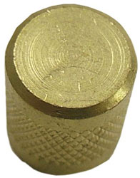 ROUND BRASS CAP WITH SEAL 25/PK SF2245