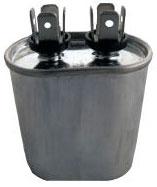 OVAL RUN CAPACITOR 3 MFD X 440V CR3X440