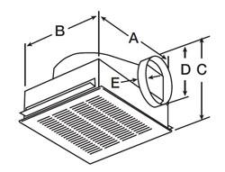 "Greenheck SP-B50-QD Ceiling Exhaust Fan 115V 51 CFM @ .125"""