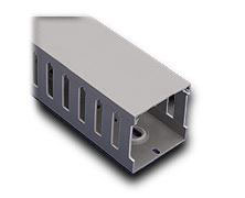 "T1-1022G-1 IBOCO T1 SERIES OPEN SLOT WIRE DUCT, 1"" WIDTH, 2.25"" HEIGHT, 6.5FT/2M LENGTH, GRAY COVER INCLUDED"
