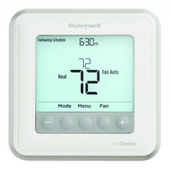 Honeywell TH6210U2001 T6 Pro Programmable Thermostat with stages up to 2 Heat/1 Cool Heat Pumps or 1 Heat/1 Cool Conventional Systems