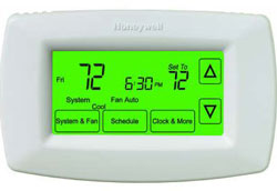 Honeywell TH7220U1035 TH7000 Series 7-Day Touchscreen Programmable Thermostat with Automatic/Manual Changeover