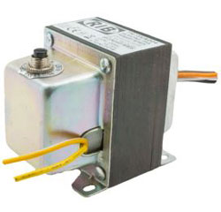 TR75VA004 TRANSFORMER 75VA, 480/240/208/120/24VAC CIRCUIT BREAKER, FOOT AND SINGLE THREADED HUB MOUNT AND SIDE OPENING