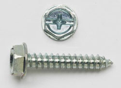 "HEX TAPPING SCREWS 8 X 1"" ZINC 500/JAR PC81HWH"