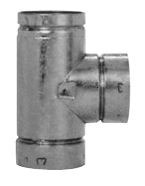 "GAS VENT 5RV-TS 05"" TEE TYPE B 6/BX 105100"