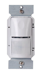 WS-250W OCCUPANCY SENSOR, PIR, WALL SWITCH, 120 OR 277 VAC, 1000 SQ. FT. COVERAGE, WHITE