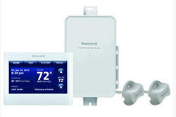 Honeywell YTHX9421R5085WW Prestige 2-Wire IAQ Kit with high definition color touchscreen white front/white sides thermostat with RedLINK technology