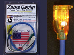 "ZEBRA'DAPTER 24"" LIGHTED FEMALE CORDSET WITH GLOW-PLUG AND SAFETY FUSE (FCCP) ZD002"