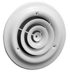 """800 10"""" WHITE ROUND CEILING DIFFUSER 01790010CW 10/CS"""